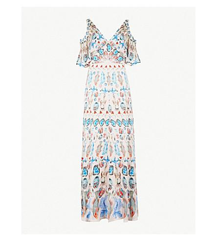 TEMPERLEY LONDON Quartz cold-shoulder silk maxi dress (Shell