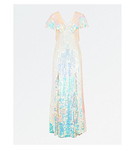 TEMPERLEY LONDON Bardot V-neck sequinned gown (Iridescent