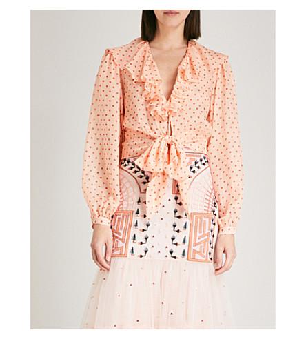 TEMPERLEY LONDON Polka dot-print silk blouse (Pclmi