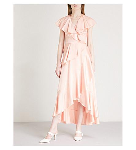 TEMPERLEY LONDON Juliette crepe wrap dress (Peach
