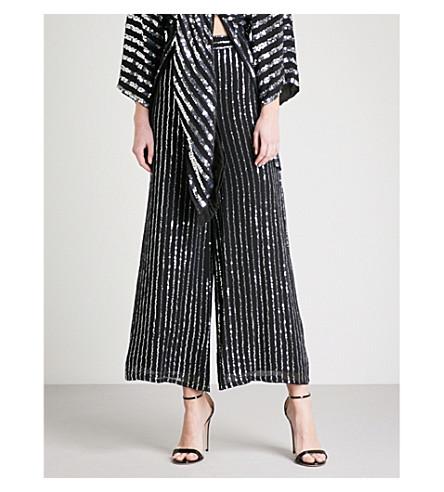 TEMPERLEY LONDON Neri wide-leg sequinned trousers (Black
