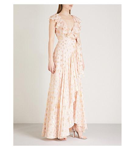 TEMPERLEY LONDON Riviera ruffled fil-coupé dress (Powder