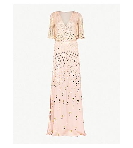 TEMPERLEY LONDON Topiary V-neck sequin-embellished dress (Pe