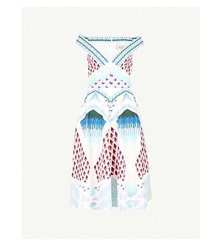 TEMPERLEY LONDON Sun off-the-shoulder woven midi dress (Azure