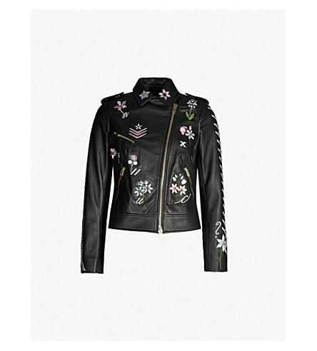 TEMPERLEY LONDON Ryder embroidered leather jacket (Black