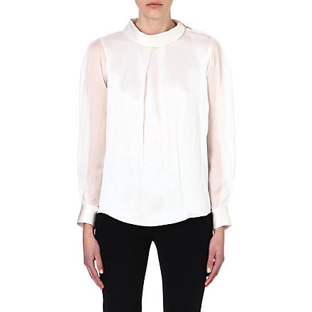 TEMPERLEY LONDON Silk top (White
