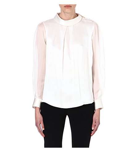TEMPERLEY LONDON Silk top (White