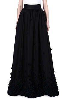 TEMPERLEY LONDON Petal-detailed maxi skirt