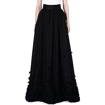 TEMPERLEY LONDON Petal-detailed maxi skirt (Ink
