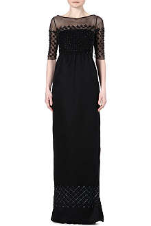 TEMPERLEY LONDON Sheer-detail embellished gown