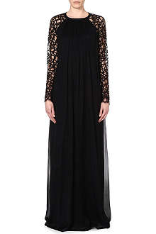 TEMPERLEY LONDON Silk-blend floor length dress