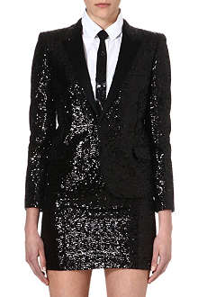 SAINT LAURENT Sequin blazer