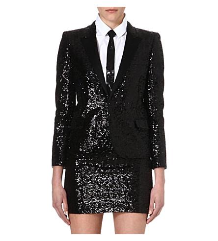 SAINT LAURENT Sequin blazer (Black