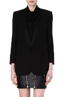 SAINT LAURENT Silk-trim classic blazer