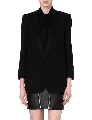 SAINT LAURENT Silk-trim classic blazer