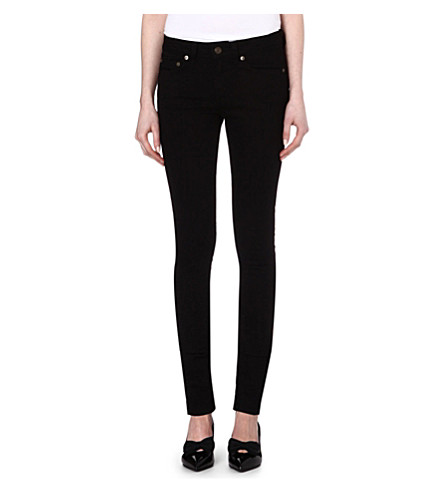 SAINT LAURENT Skinny low-rise jeans (Black