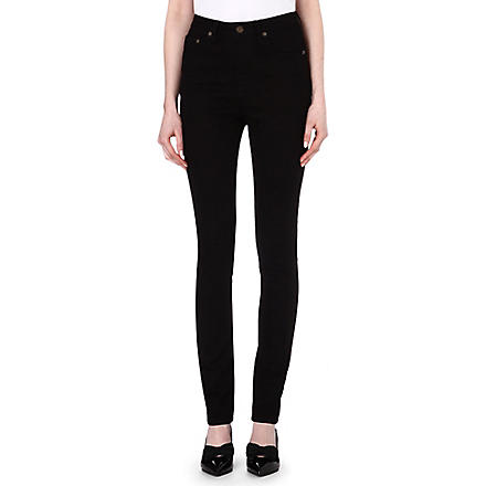 SAINT LAURENT Skinny high-rise jeans (Black