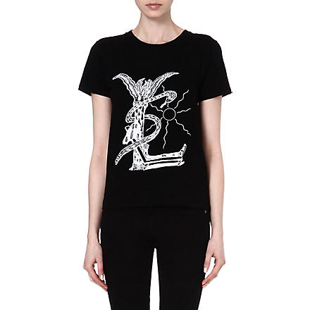 SAINT LAURENT Grunge cotton t-shirt (Black