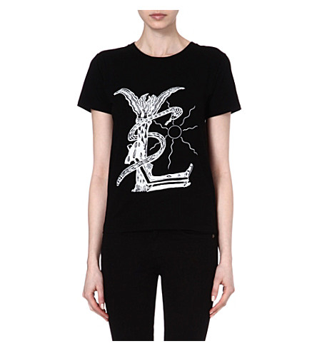 SAINT LAURENT Grunge cotton t-shirt (Black