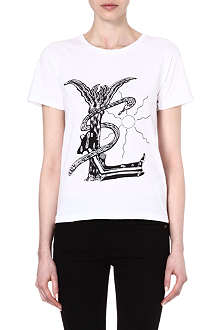 SAINT LAURENT Grunge cotton t-shirt