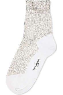 SAINT LAURENT Beaded bobby socks