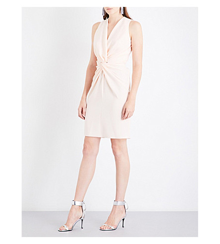 LANVIN Knot-detail sleeveless woven dress (Powder