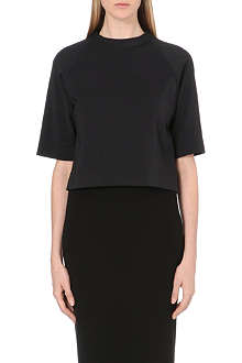 OSMAN YOUSEFZADA Cropped cotton-blend top