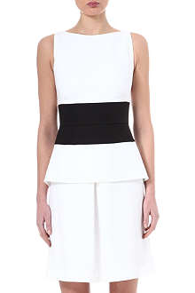 OSMAN YOUSEFZADA Contrast waistband dress