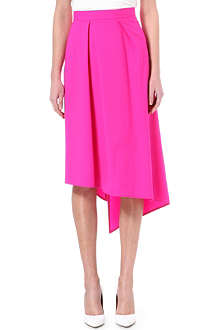 OSMAN YOUSEFZADA Asymmetric wool-blend skirt