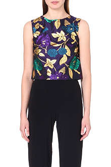 OSMAN YOUSEFZADA Floral box crop top