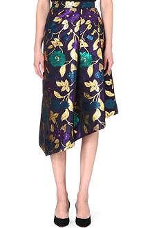 OSMAN YOUSEFZADA Floral asymmetric skirt