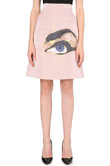 OSMAN YOUSEFZADA Metallic-eye satin skirt
