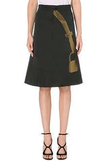OSMAN YOUSEFZADA Brocade handbag-print skirt