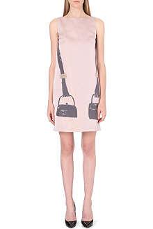 OSMAN YOUSEFZADA Handbag-print satin shift dress