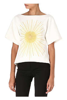 OSMAN Embroidered sunburst top