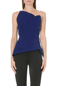 ROLAND MOURET One-shoulder peplum top