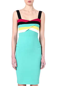 ROLAND MOURET Amur striped crepe dress