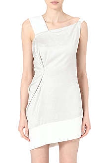ROLAND MOURET Asymmetric silk-blend dress