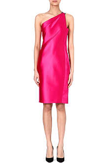 ROLAND MOURET Lacquared satin dress
