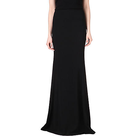 ROLAND MOURET Aries stretch-crepe maxi skirt (Black