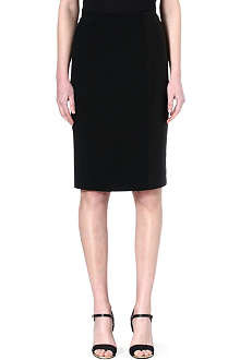 ROLAND MOURET Stretch crepe skirt