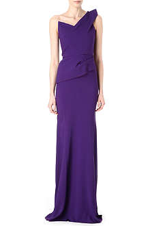 ROLAND MOURET One-shoulder gown
