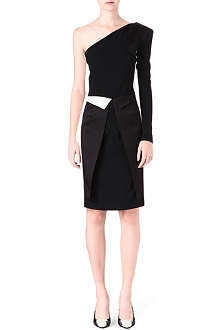 ROLAND MOURET Bivalves two-toned dress