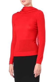 ROLAND MOURET Draped knitted top