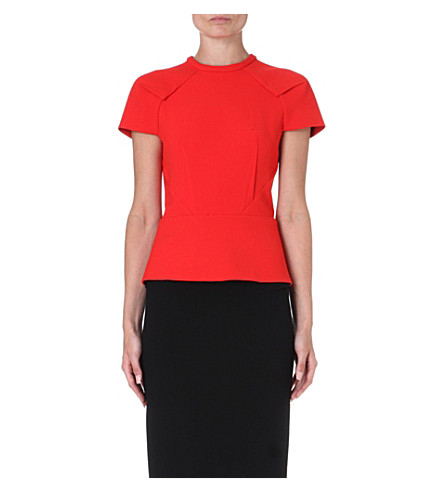 ROLAND MOURET Cymatia panelled top (Red