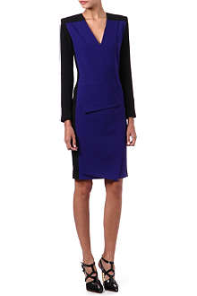 ROLAND MOURET Diamanda two-toned dress