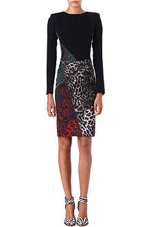 ROLAND MOURET Dresden panelled dress