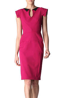 ROLAND MOURET Eliza folded collar dress
