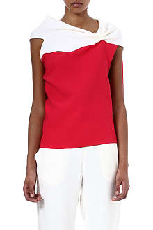 ROLAND MOURET Eugene two-toned wool-crepe top