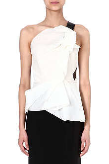 ROLAND MOURET Abstract silk top